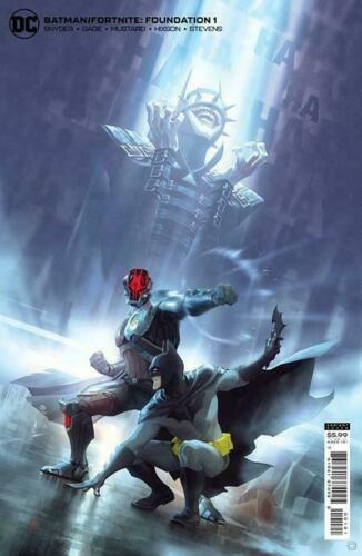 DC BATMAN FORTNITE FOUNDATION 1 ALEX GARNER COVER B W/GAME CODE NEW 10/26/21