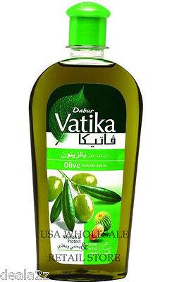 200ml - 7oz Dabur Vatika Olive Hair Oil with  Almond Cactus USA wholesale Retail