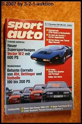 Sport Auto 11/89 Vector W2 Porsche Carrera VW Corrado