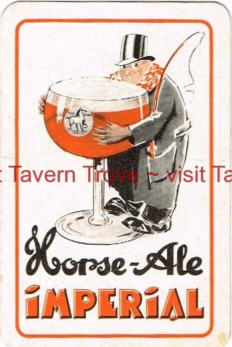 1930s JOKER France IMPERIAL HORSE ALE playing card Tavern Trove