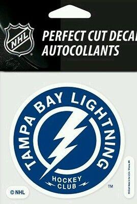 Tampa Bay Lightning Hockey Club Logo 4x4 Perfect Cut Car Decal See Description  - Tampa Bay Lightning Hockey Club