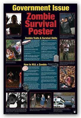 HUMOR POSTER Zombie Survival Guide