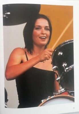 The CORRS 'drum stick' magazine PHOTO/Poster/clipping 11x8 inches