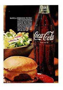 1967-Coke-Coca-Cola-Vintage-Bottle-Cheeseburger-PRINT-AD