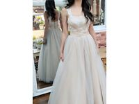 Champagne a-line prom dress size 6/8