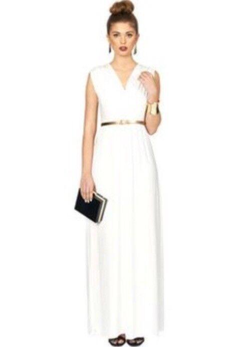 Topshop Oh My Love Cream Maxi Grecian Dress In Renfrew