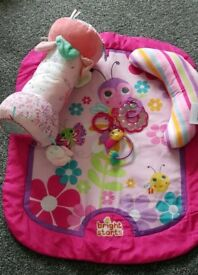 Tummy time mat and accessories