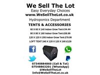 Hydroponics | Grow Tents From £39:99 | Full Kits From 149.99 | Fans & Filters | Lighting | Nutes