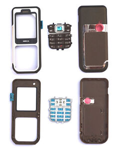 New Coffee Brown Cover Housing Case For Nokia 7360+Keypad