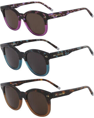 Calvin Klein Women's Vintage Style Rounded Cat-Eye Sunglasses - (Calvin Klein Sunglasses For Women)