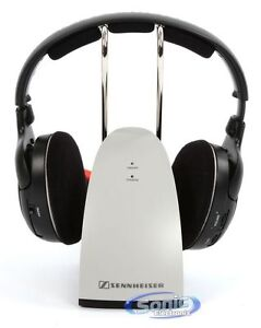 Sennheiser RS120 Over-Ear Wireless RF Headphones & Dock Home Audio TV (RS 120)