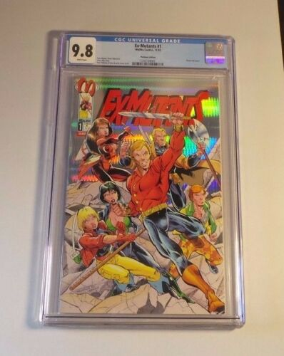 Ex-Mutants #1B PLATINUM EDITION (1992 2nd Series) CGC 9.8 NM/MT White Pages