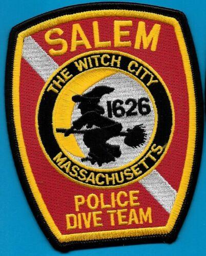 SALEM MASS MA POLICE DEPT UNDERWATER DIVE TEAM PATCH WITCH CITY SPD (FIRE)