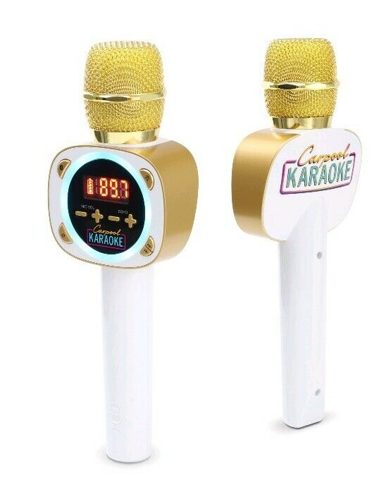 Singing Machine Official Carpool Karaoke The Mic Bluetooth Microphone for Cars