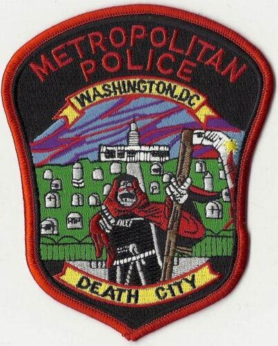 DISTRICT OF COLUMBIA METRO POLICE DEPT DC PD DEATH CITY PATCH MR DEATH CAPITOL
