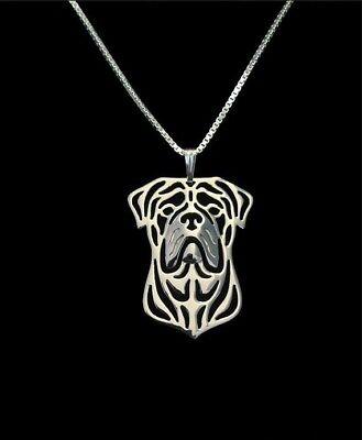 Bullmastiff Necklace Silver Tone ANIMAL RESCUE DONATION