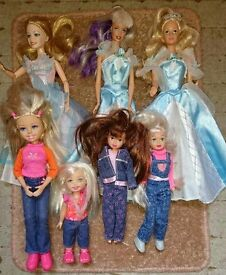 Barbie dolls X7 (will sell separately)