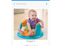 Super seat, bumbo type seat with tray