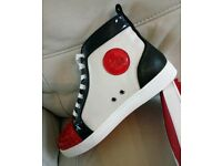 Mens Christian Louboutin SPIKES/RED/B UK 8 Not Balenciaga Giuseppe Zanotti