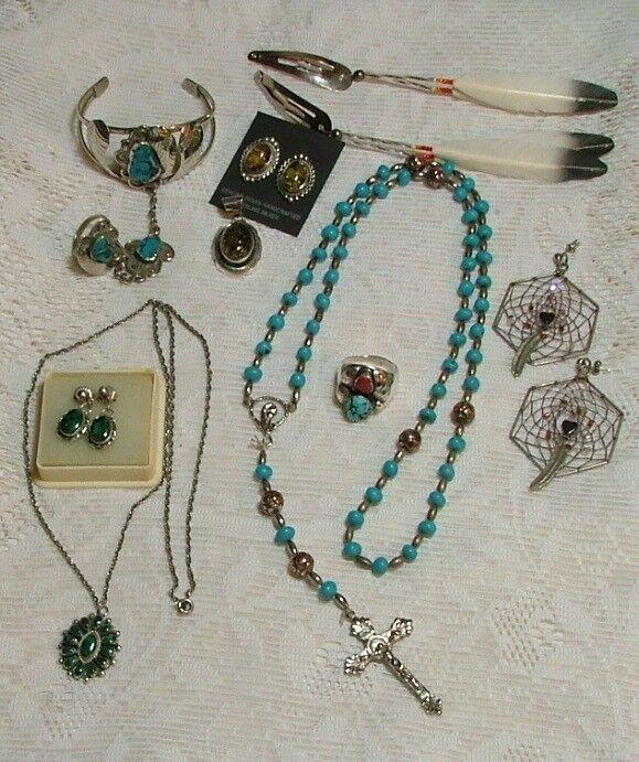 Native American Sterling Silver/Malachite Pendant