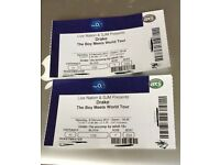 x2 Drake Tickets - Saturday 4th February 2017 London o2 (Block 109, Row Y, Seats 258 & 259) 6:30pm