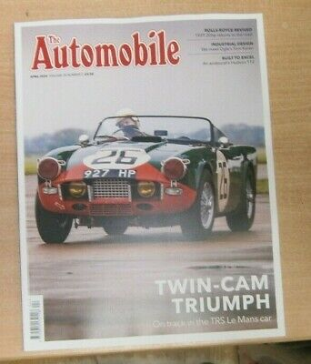 The Automobile magazine Apr 2020 Twin-Cam Triumph TRS Le Mans Car + Hudson 112