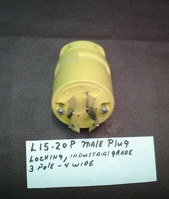Woodhead Male Plug 2675  20 Amp Nema L15-20p