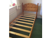 1 x single solid wood bedframe for sale