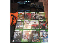 Xbox 360 slim 250GB with Kinect and Games