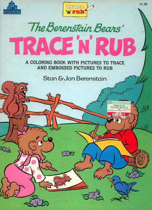 Details about Berenstain Bears coloring book RARE UNUSED