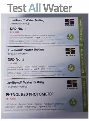 Lovibond DPD 1, DPD 3 & pH 100 Tablets Pack