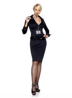 CSI Detective Adult Women's Halloween Costume - S/M - Leg Avenue