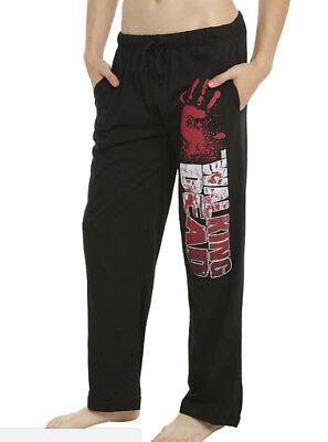 The Walking Dead BLOODY HAND PRINT Men's Lounge Pajama Pants NEW XS-2XL - Bloody Hand Print