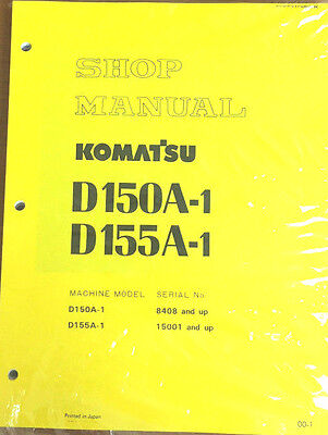 Komatsu D150a 1  D155a 1 Crawler  Dozer  Bulldozer Shop Repair Service Manual