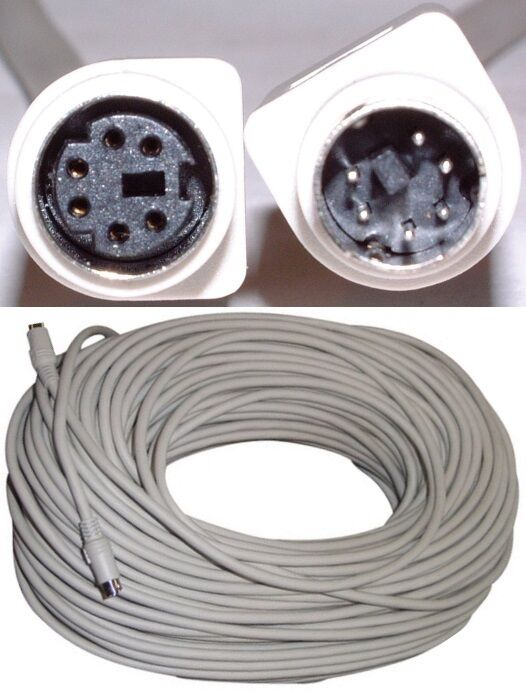 Lot2 100ft Ps2 6pin Din/md6 Malefemale Extension Cable/co...