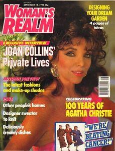 JOAN COLLINS - AGATHA CHRISTIE - British Magazine WOMAN'S REALM 1990  C#26