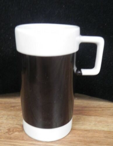 Vintage BRANIFF International Airlines Black & White Coffee Cappuccino Cup Mug