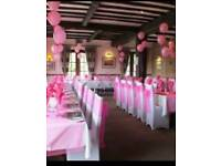 Hot pink chair sashes