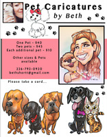 Pet Caricatures! People Caricatures!