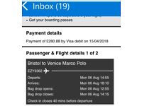 X2 flights to Venice 6th-13th August