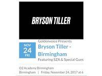 2 x Bryson Tiller O2 Birmingham Friday 24th November Standing Tickets