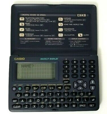 Casio SF-3905A Digital Diary Organizer 128KB Tested and Working A2