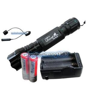 UltraFire 1000Lm CREE XM-L T6 LED Flashlight Torch Remote Pressure Switch 1Mode