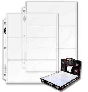 100-BCW-3-Pocket-LARGE-Size-3-5-x-8-Currency-Paper-Money-Binder-Pages-Holders