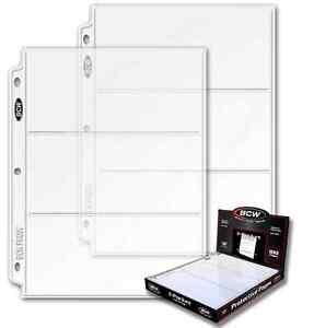 20-BCW-3-Pocket-LARGE-Size-3-5-x-8-Currency-Paper-Money-Binder-Pages-Holders