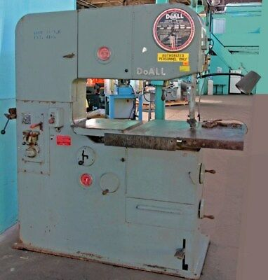 Doall 3613-2 Vertical Contouring Band Saw With Blade Welder
