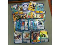 56 Japanese digimon cards and 13 English digimon cards will swap for pokemon cards