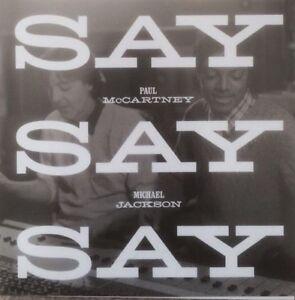 PAUL MCCARTNEY + MICHAEL JACKSON 'SAY SAY SAY' 2015 NEW OFFICIAL UK CD PROMO