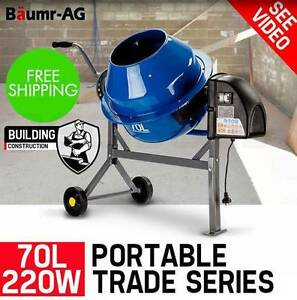 70L Portable Cement Concrete Mixer Electric Construction Sand Adelaide CBD Adelaide City Preview