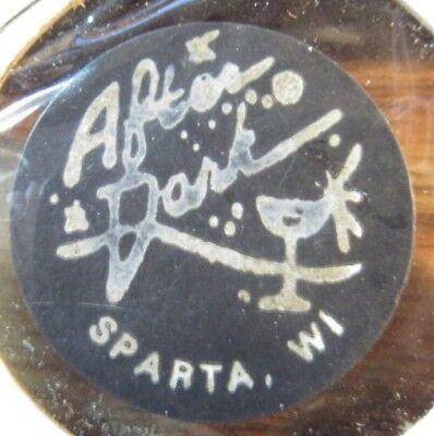 Vintage After Dark Sparta, WI Black Plastic Trade Token Wisconsin